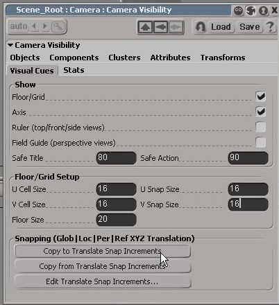 Change Grid setup, click Copy to Translate Snap Increment