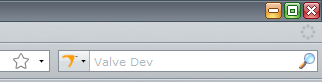 A picture of The Valve Developers Community search plugin for Mozilla Firefox.