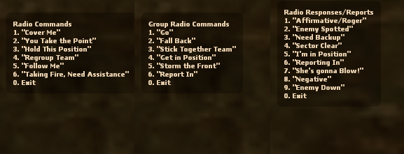 Radio console commands (Counter Strike: Source) - Valve