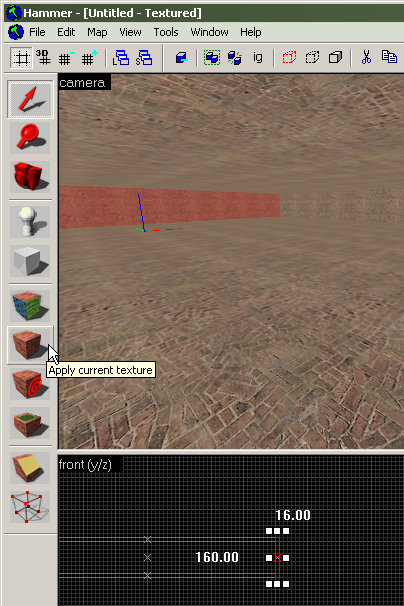 Use the Apply Current Texture icon to put textures on brushes.