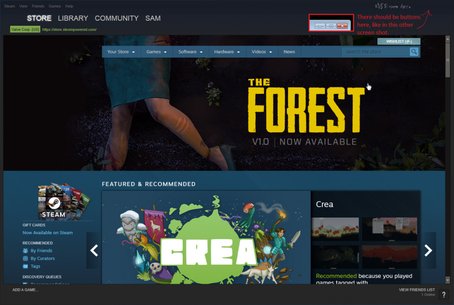 Steam window buttons invisible.png